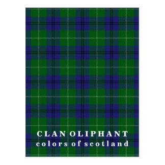 Colors of Scotland Clan Oliphant Tartan Postcard