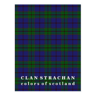 Colors of Scotland Clan Strachan Tartan Postcard