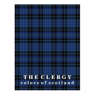 Colors of Scotland Clergy Tartan Postcard