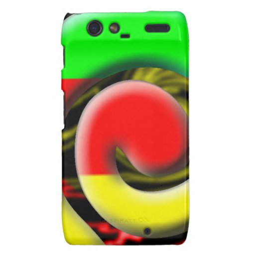 Colors of South Africa Swirl Pattern Motorola Droid RAZR Cases