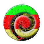 Colors of South Africa Swirl Pattern Dartboard With Darts