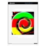 Colors of South Africa Swirl Pattern Skin For The iPad 2