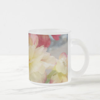 Colors of Spring Frosted Glass Coffee Mug