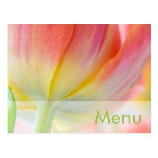 Colors of Spring • Menu Postcard