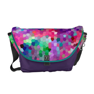 Colors of Spring Stained Glass Mosaic Messenger Bag