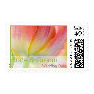 Colors of Spring Tulip • Bride & Groom Stamp