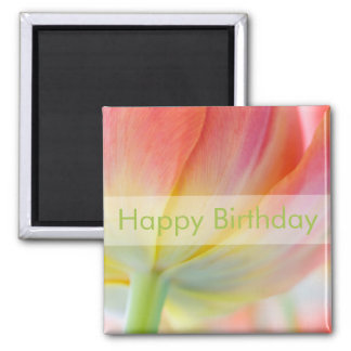 Colors of Spring Tulip • Happy Birthday Magnet