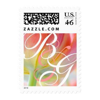 Colors of Spring Tulip • Monogram Stamp stamp