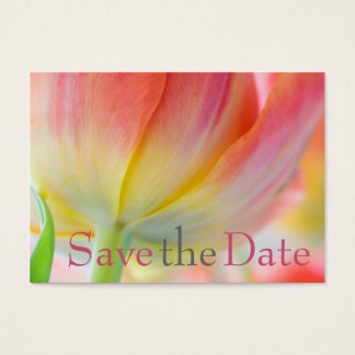 Colors of Spring Tulip Save the Date Mini Card