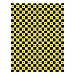 Colors of the Bee Pattern Yellow and Black Personalized Letterhead