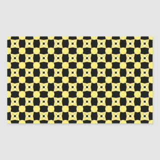 Colors of the Bee Pattern Yellow and Black Rectangular Sticker