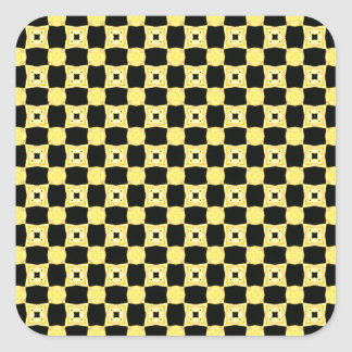 Colors of the Bee Pattern Yellow and Black Square Sticker
