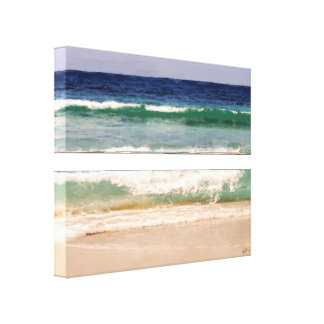 Colors of the Caribbean Wrapped Canvas Canvas Print