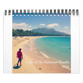 Colors of The Dominican Republic Calendar