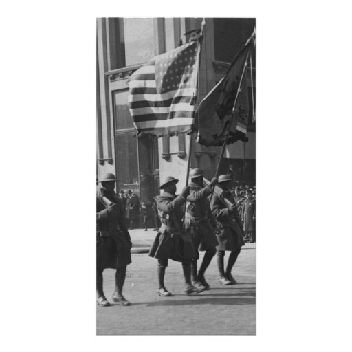 Colors of The Famous 369th Infantry in Parade Photo Greeting Card