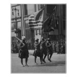 Colors of The Famous 369th Infantry in Parade Poster