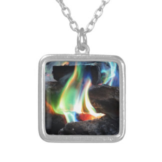 Colors of the Flame Silver Plated Necklace