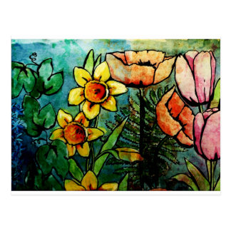Colors of the Garden Postcard