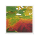 Colors of the Maple Leaf Autumn Nature Photography Napkin
