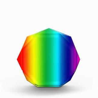 Colors of the Rainbow Acrylic Award
