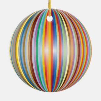 Colors of the Rainbow Ceramic Ornament