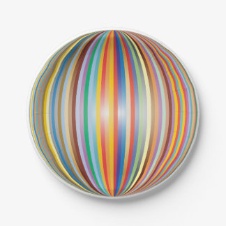 Colors of the Rainbow Paper Plate