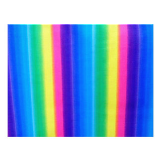 Colors of the Rainbow Striped Scrapbooking Paper Letterhead