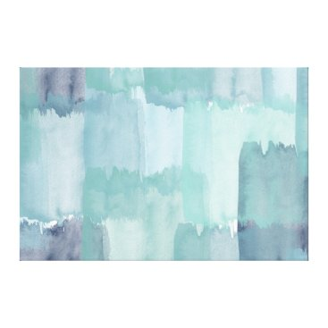 Beach Themed Colors of the Sea Watercolor Canvas Print