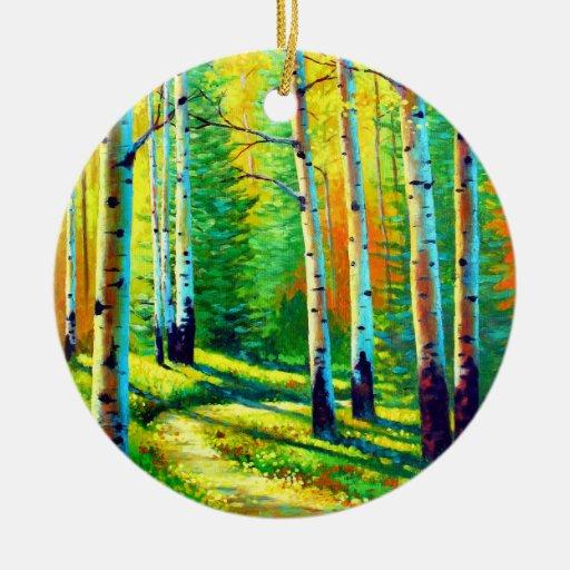 Colors of the Season Ceramic Ornament