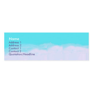 colors of the sky Double-Sided mini business cards (Pack of 20)
