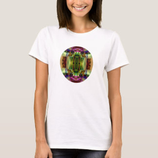 Colors of Time Cool Glowing Abstract Design T-Shirt