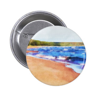 Colors of Water 2 Inch Round Button