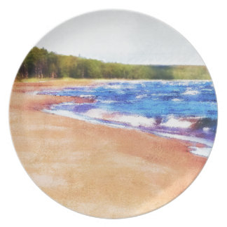 Colors of Water Melamine Plate