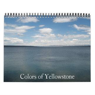 Colors of Yellowstone Calendar