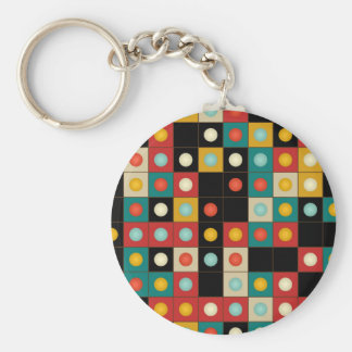 Colors on black keychain