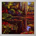 Colors on Monet's Pond Print