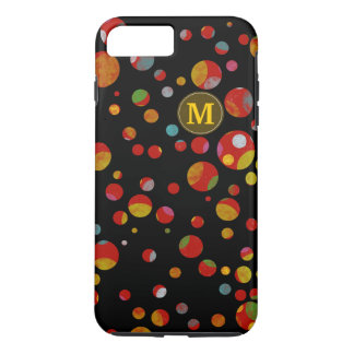 colors on polka dots pattern personalized iPhone 7 plus case