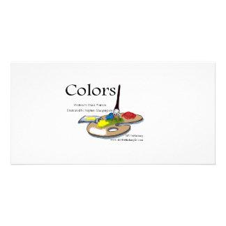 Colors one custom photo card