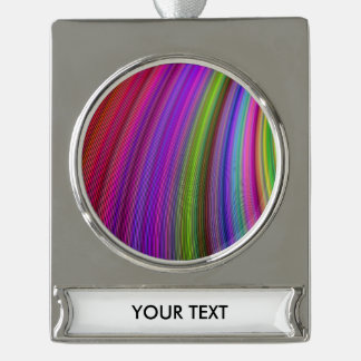 Colors Silver Plated Banner Ornament