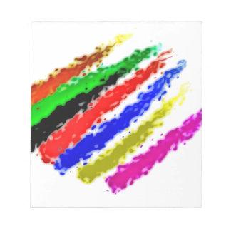 colors simple memo pad