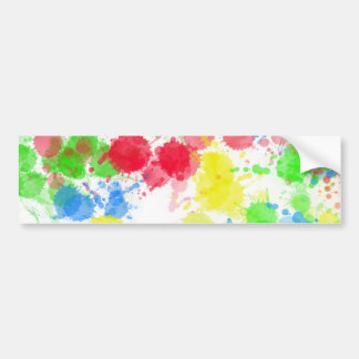 Colors splash abstract art bumper sticker