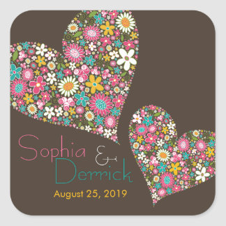Colors Spring Flowers Heart Engagement Sticker