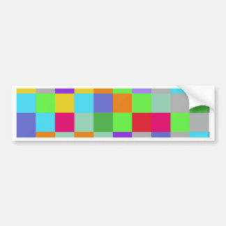 Colors Squares Bumper Sticker
