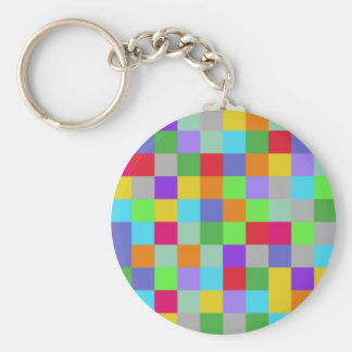 Colors Squares Keychain