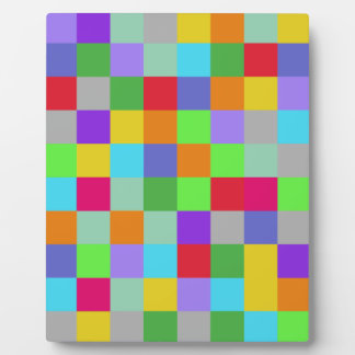 Colors Squares Plaque