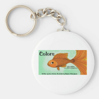 Colors two basic round button keychain