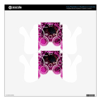Colors Waves, Purple Colors, Shapes Style Fashion PS3 Controller Skin