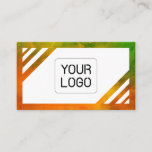 Colors &  White, Unique, Green, Orange Watercolors Business Card