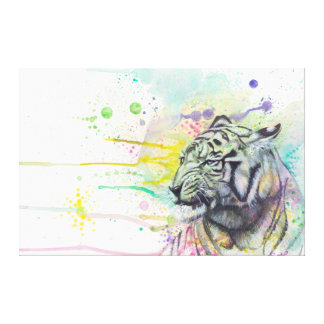 ColorSplash Tiger wrapped canvas