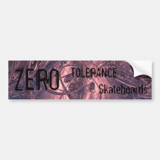 colorswirl, ZERO, TOLERANCE, Skateboards Bumper Sticker